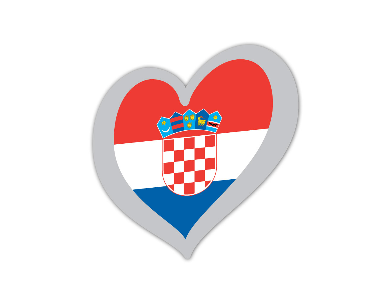 Heart Pin Croatia