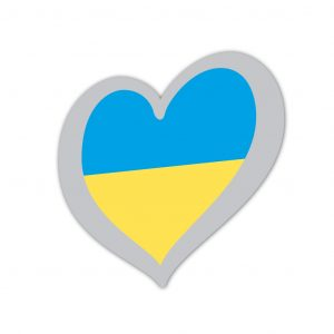 Heart Pin Ukraine