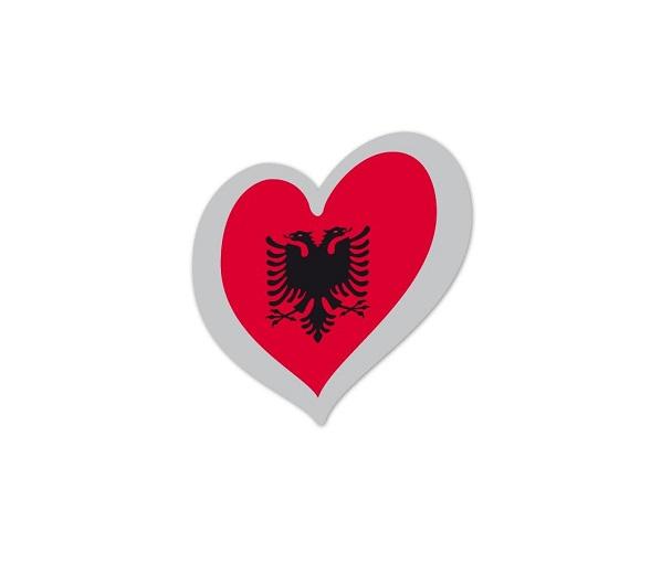 Heart Pin Albania