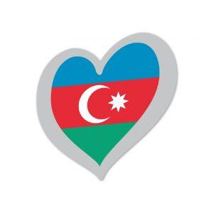 Heart Pin Azerbaijan