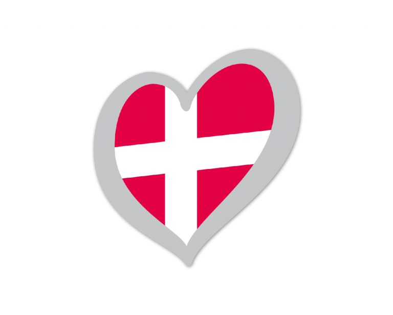 Heart Pin Denmark