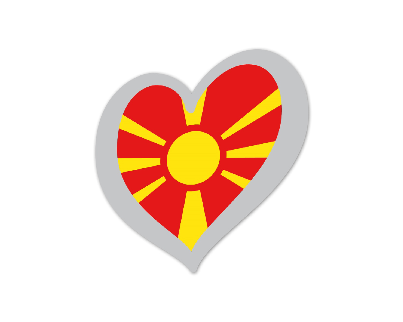 Heart Pin FYR Macedonia