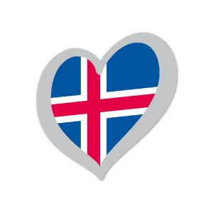 Heart Pin Iceland