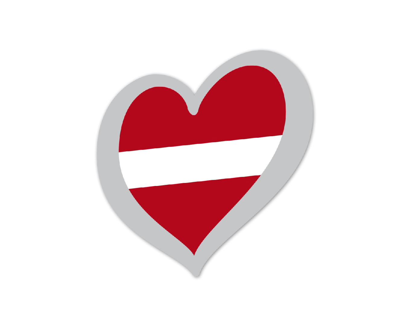 Heart Pin Latvia
