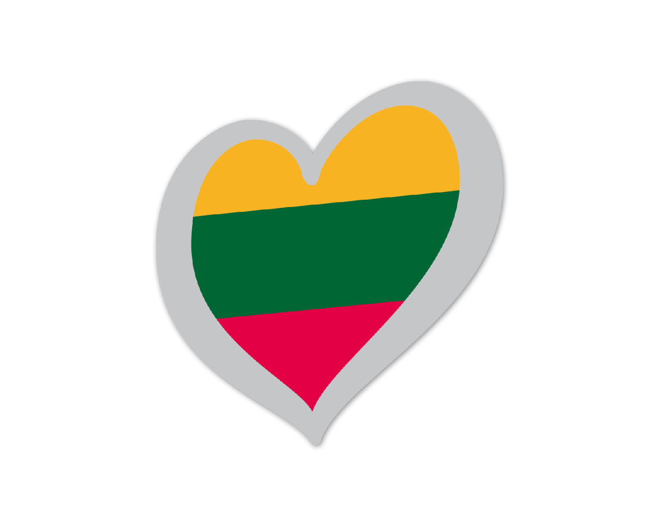 Heart Pin Lithuania