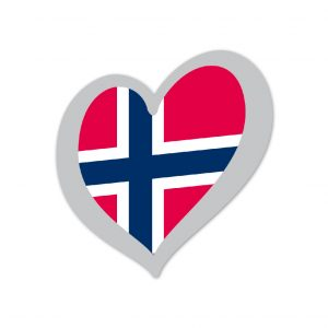 Heart Pin Norway