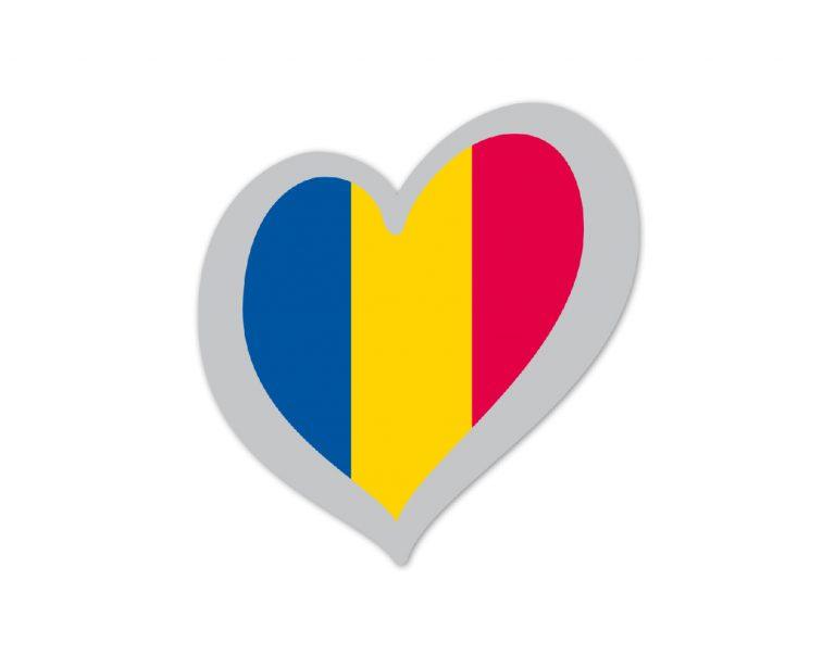 Heart Pin Romania
