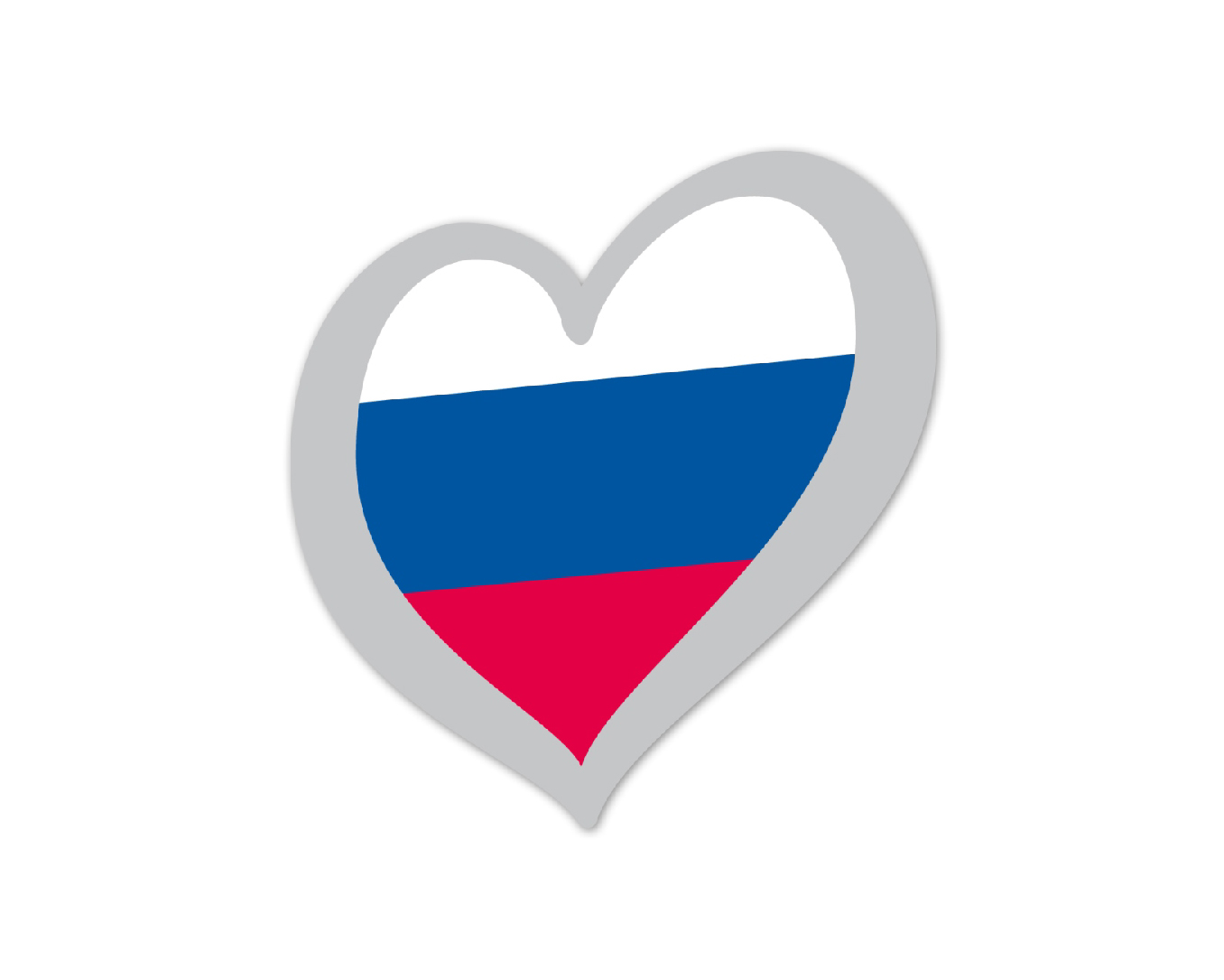 Heart Pin Russia