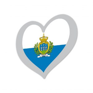 Heart Pin San Marino