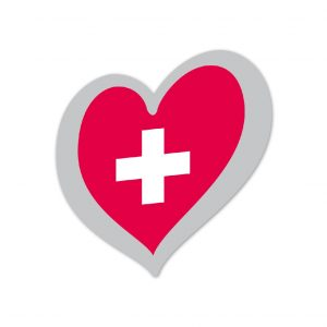 Heart Pin Switzerland