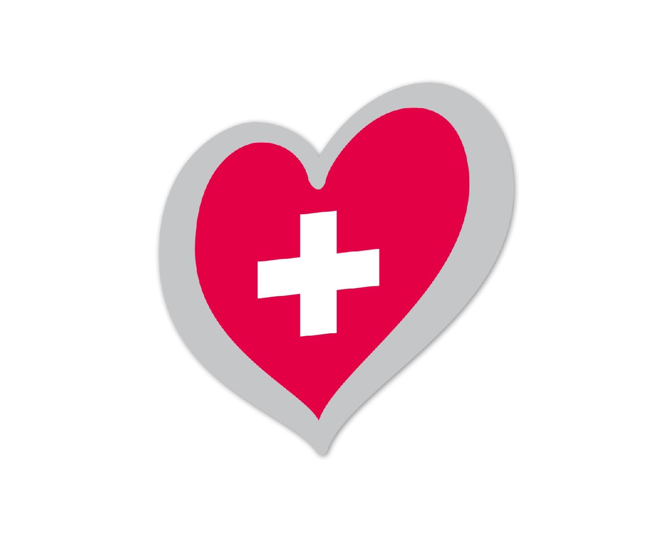 Heart Pin Switzerland